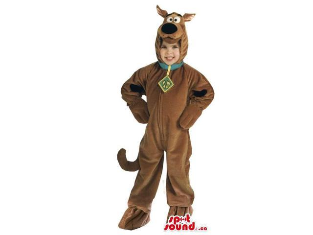 Cute Scooby-Doo Cartoon Character Children Size Plush Costume