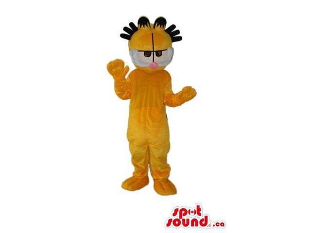 Garfield Cat Cartoon Character Plush Canadian SpotSound Mascot With Spiky Hair