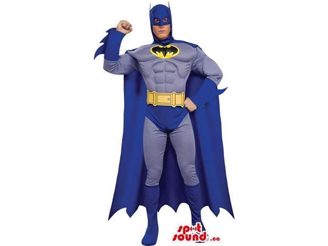 All Blue Batman Cartoon Character Adult Size Costume