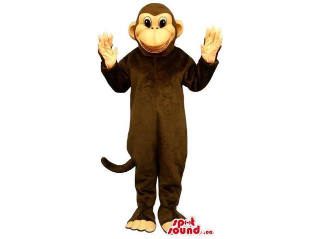 Cute Brown Monkey Animal Plush Canadian SpotSound Mascot With A Beige Face