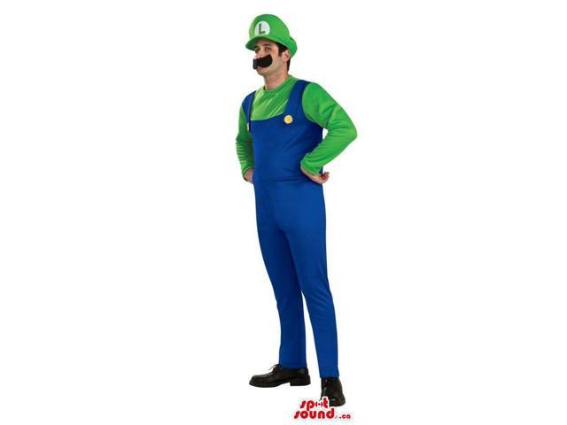 Mario Bros. Mario Luigi Video Game Character Adult Size Costume