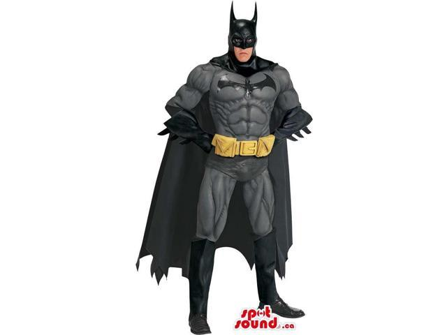 All Black Strong Batman Cartoon Character Adult Size Costume