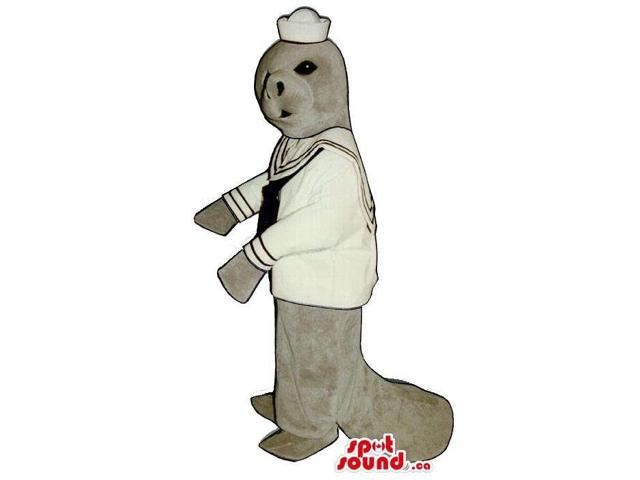 Grey Seal Water Animal Plush Canadian SpotSound Mascot Dressed In Sailor Gear