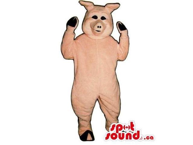 Customised All Pig Canadian SpotSound Mascot With Space For Logos And Small Eyes