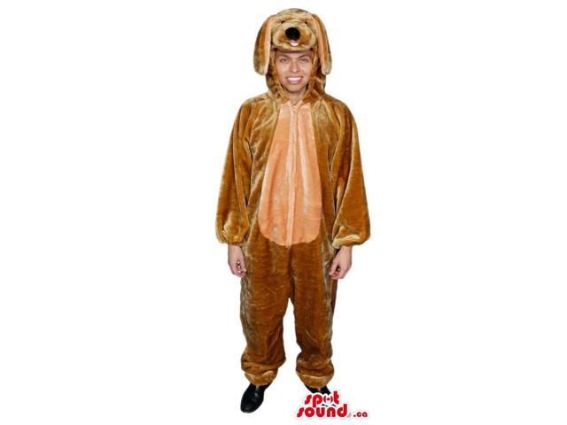 Cute Brown Dog With Long Ears Adult Size Peculiar Costume