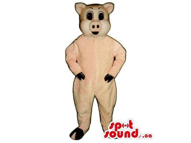 Customised And All Pig Canadian SpotSound Mascot With Large Black Eyes