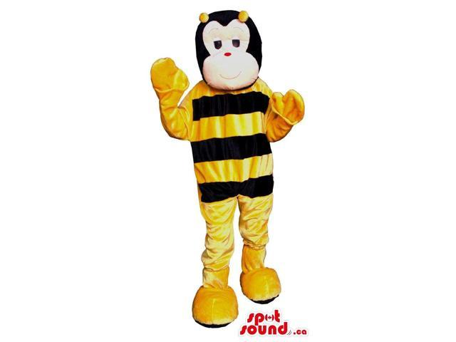 Customised Bee Plush Canadian SpotSound Mascot With A Special White Face
