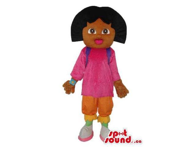 Dark Dora The Explorer Well-Known Cartoon Character Canadian SpotSound Mascot