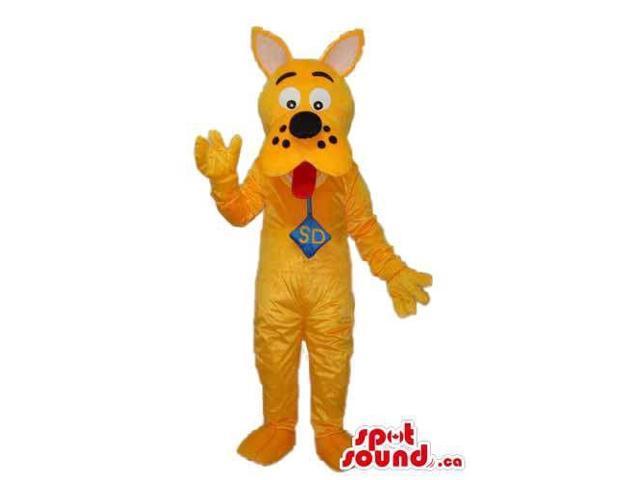 Yellow Scooby-Doo Dog Cartoon Character Plush Canadian SpotSound Mascot
