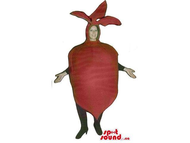 Large Red Turnip Vegetable Adult Size Costume Or Canadian SpotSound Mascot