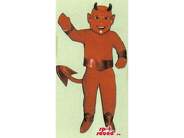 Customised Red And Shinny Devil Character Canadian SpotSound Mascot