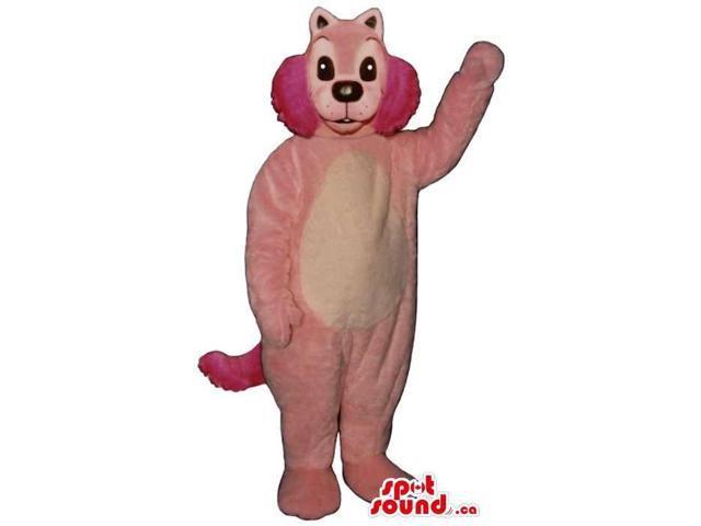 Customised Pink Rabbit Plush Canadian SpotSound Mascot With Large Cheeks