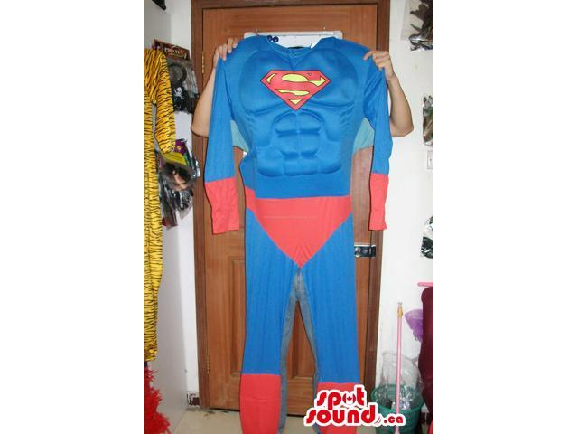 Strong Superman Costume In Varied Sizes For Halloween And Events