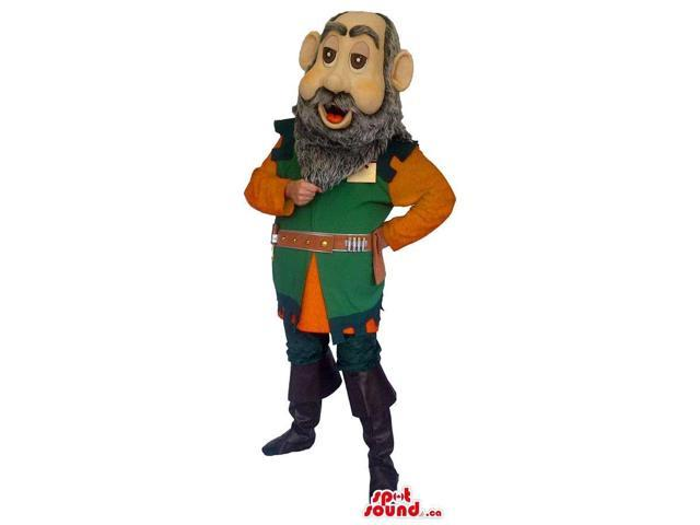 Dwarf Canadian SpotSound Mascot Or Medieval Character With A Grey Beard