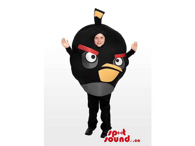 Cute Black Angry Birds Character Children Size Costume