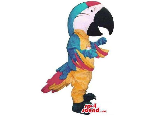 Great Colourful Parrot Plush Canadian SpotSound Mascot With Huge Head And Beak