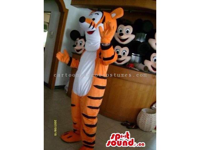 Winnie The Cartoon Tiger Character Plush Canadian SpotSound Mascot