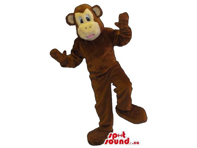 Customised Cute All Brown Monkey Plush Canadian SpotSound Mascot