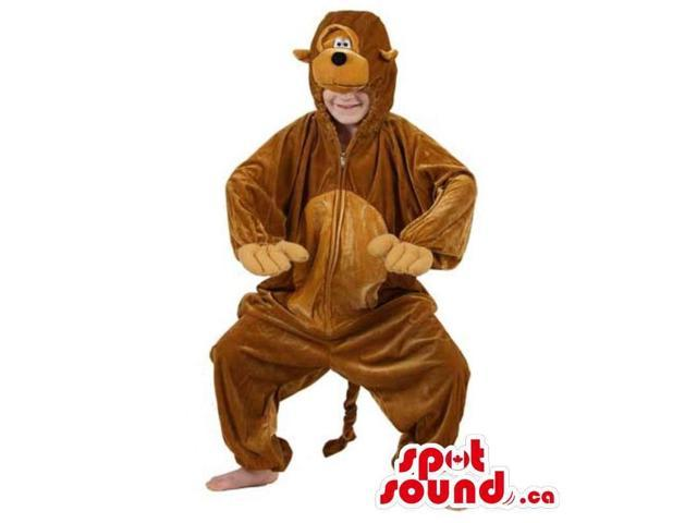 All Brown Dog Character Children Size Plush Costume
