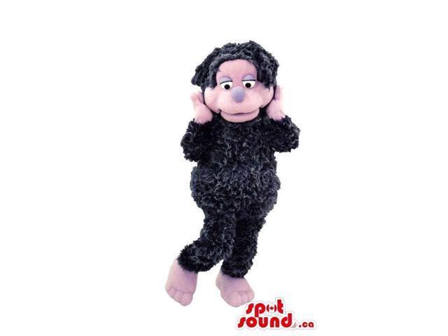 Cute Black And Pink Woolly Sheep Animal Plush Canadian SpotSound Mascot