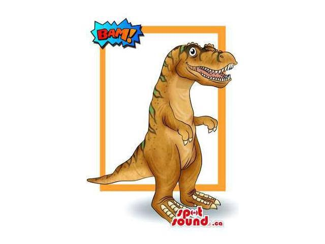 Customised Brown Large Dinosaur Canadian SpotSound Mascot Or Costume Drawing