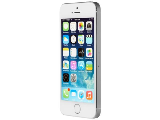 refurbished apple iphone 5s 64gb factory gsm unlocked t mobile at t silver. Black Bedroom Furniture Sets. Home Design Ideas