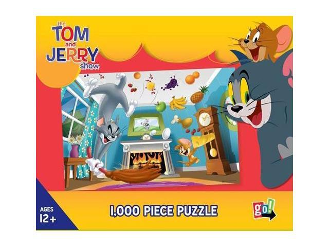 Tom and Jerry Food Fight 1000 Piece Puzzle by Go! Games ...