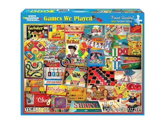 Games We Played 1000 Piece Puzzle by White Mountain Puzzles
