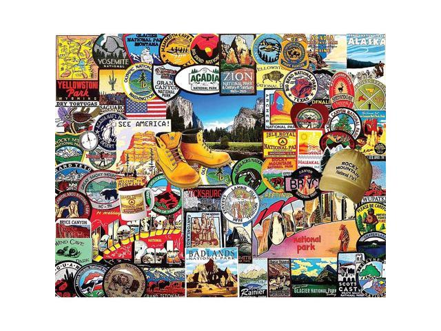 National Park Badges 1000 Piece Puzzle by White Mountain Puzzles