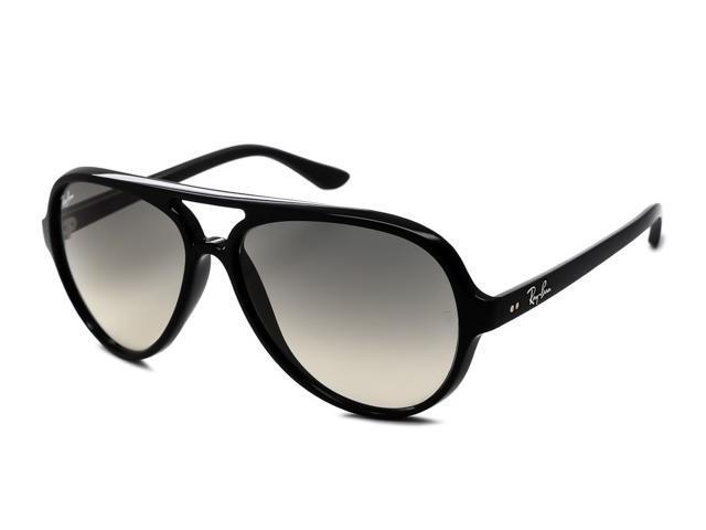 ray ban rb4125 cats sunglasses shiny black frame