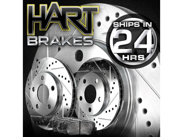 [FRONT KIT]Platinum Hart *DRILLED & SLOTTED* Brake Rotors +CERAMIC Pads- 2466