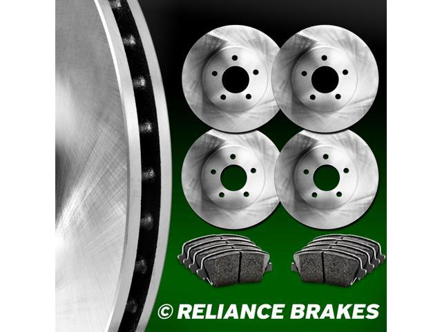 [FRONT+REAR KIT] Reliance *OE REPLACEMENT* Brake Rotors *Plus Ceramic Pads C1417
