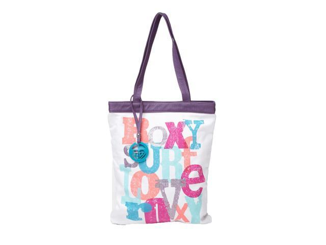 Roxy Girls' In The Mix Canvas Tote Bag-White