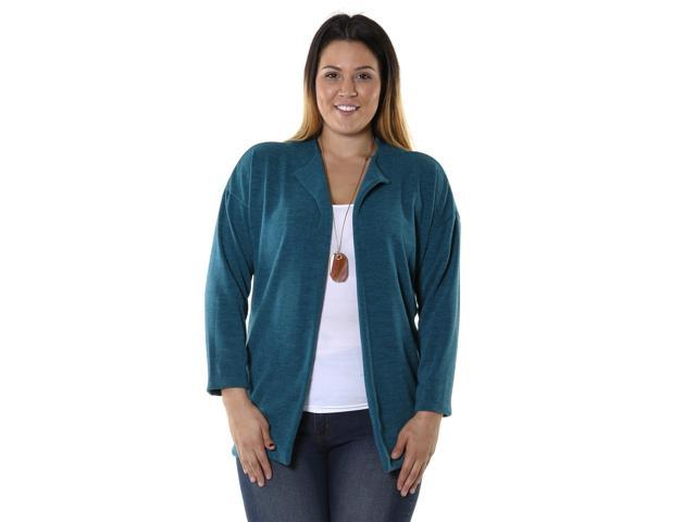 Hadari Women's Plus Size Open Front Cardigan