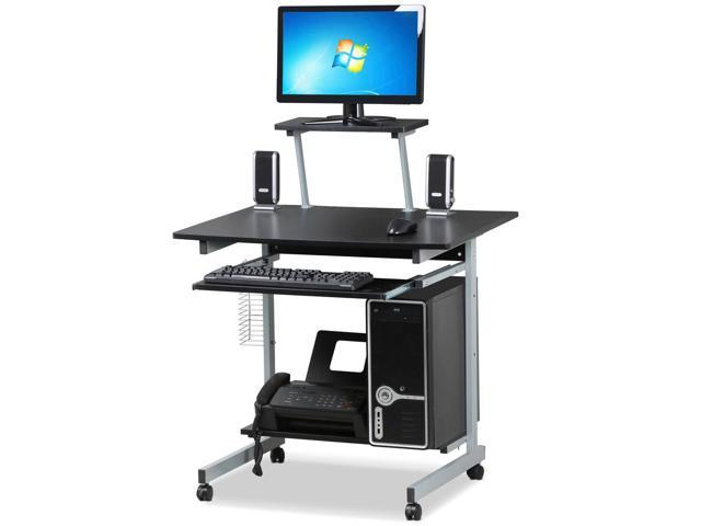 Yaheetech Small Spaces Computer Desk With Keyboard Tray