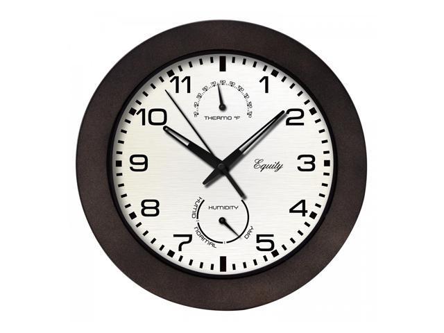 equity 29005 indoor outdoor wall clock with temperature
