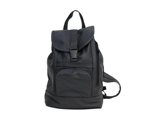 Genuine Leather Backpack with Convertible Strap Super Soft Black ...