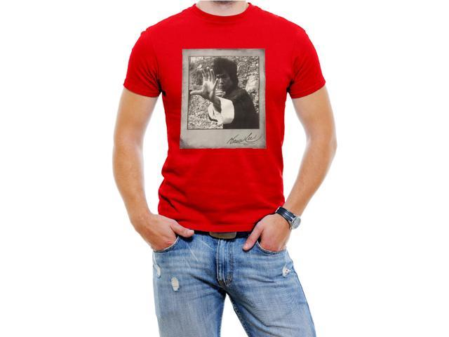 Bruce Lee Men T-Shirt Soft Cotton Short Sleeve Tee[Red,X-Large]