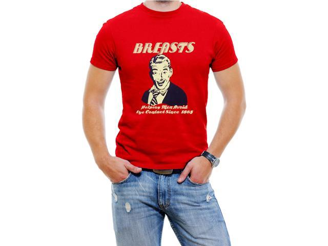 Brst Funny Men T-Shirt  Soft Cotton Short Sleeve Tee[Red,Large]