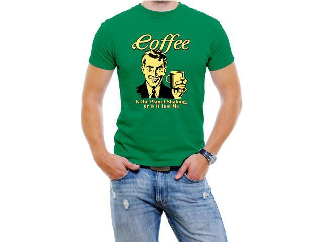 Funny Coffee Men T-Shirt Soft Cotton Short Sleeve Tee [Green,XX-Large]