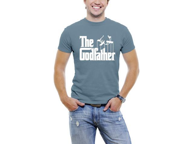 The Classic GodFather Men T-Shirt Soft Cotton Short Sleeve Tee [Slate Blue]