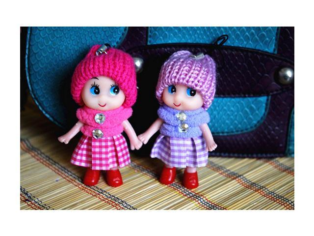 Tempting Mini Toy Doll 2 Pieces/Pack Evade Glue Pendant Doll Cartoon Cell Accessories & Mobile Phones Decorations Pendant Doll