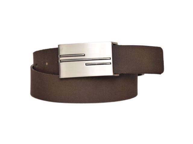 drive mens brown textured leather flat buckle dress belt