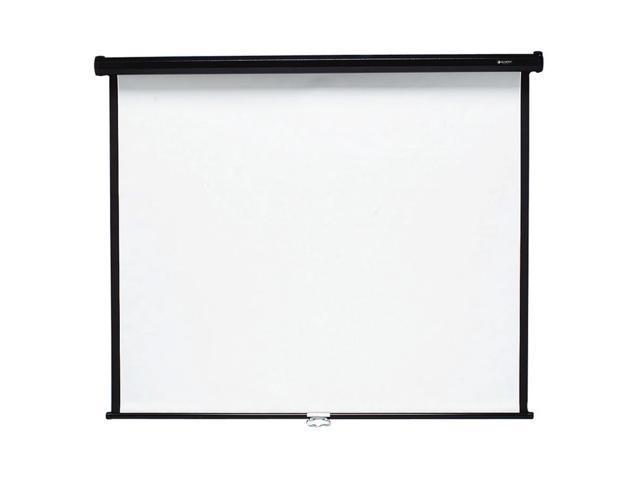 Quartet 684S Wall or Ceiling Projection Screen  84 x 84  White Matte  Black Matte Casing