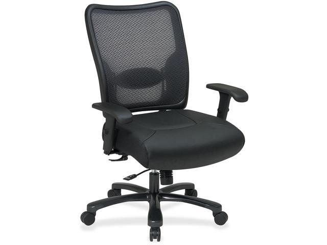 Office Star Space 75-47A773 Black - Leather Seat - 30.3
