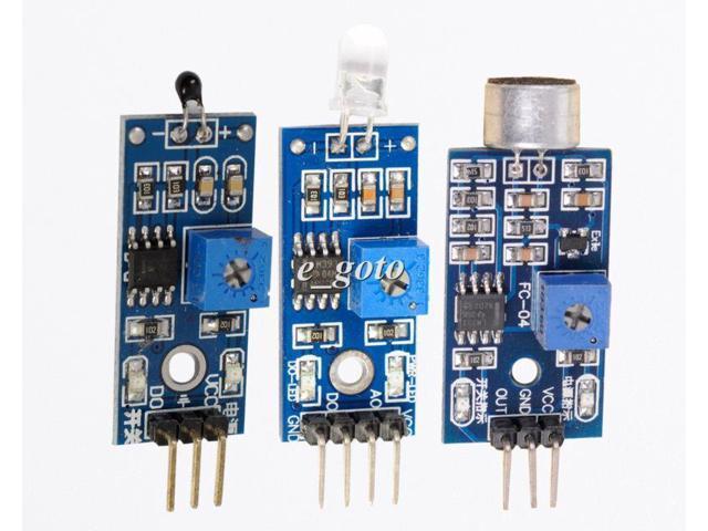 Photodiode thermistor sound detection sensor kit precise