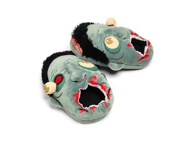 Foxnovo Pair of Fashion Plush Zombie Slippers - Free Size (Blue)