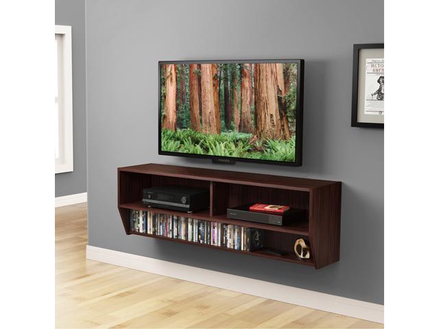wall mount media center shelf floating entertainment