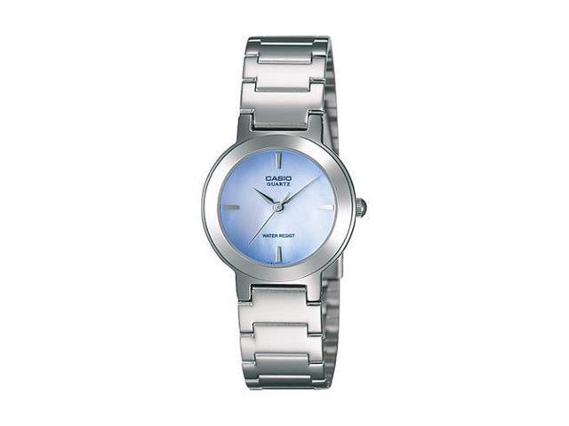 Casio #LTP1191A-2A Women's Metal Fashion MOP Blue Dial Analog Watch