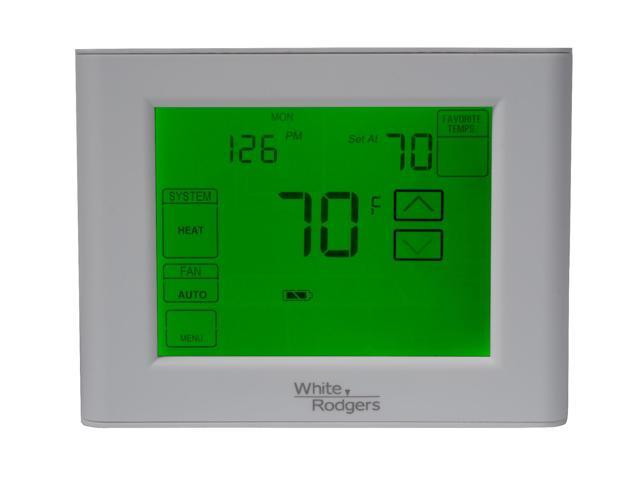 basic white rodgers thermostat how to turn on